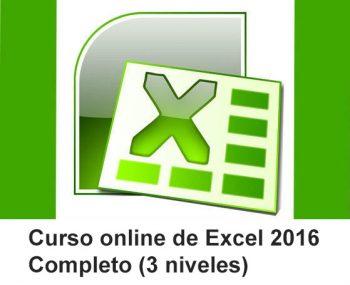 Curso online de Excel 2016 completo