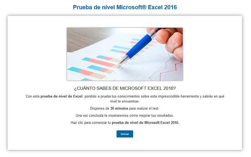 Prueba de nivel de Excel